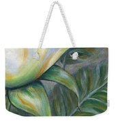 White Rose One Panel Four Of Four Weekender Tote Bag