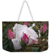 White Rose Pink Buds Weekender Tote Bag