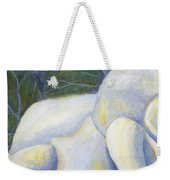 White Rose Two Panel One Of Four Weekender Tote Bag