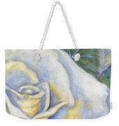 White Rose Two Panel Two Of Four Weekender Tote Bag