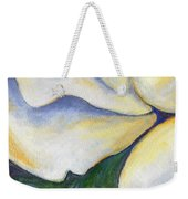 White Rose Two Panel Three Of Four Weekender Tote Bag