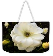 White Rose With Buds Weekender Tote Bag