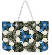 White Roses And Babys Breath Kaleidoscope Weekender Tote Bag