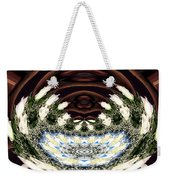 White Roses And Babys Breath Polar Coordinates Effect Weekender Tote Bag