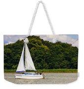 White Sailboat Weekender Tote Bag