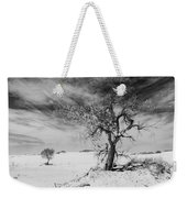 White Sands National Monument 1 Light Mono Weekender Tote Bag