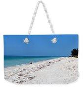 White Sandy Beach Weekender Tote Bag