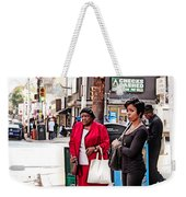 White Shopping Bag Weekender Tote Bag
