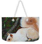 White Squirrel Of Sooke Weekender Tote Bag