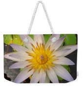White Star Lotus Weekender Tote Bag