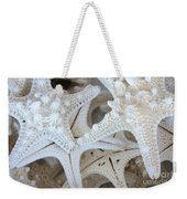 White Starfish Weekender Tote Bag by Carol Groenen