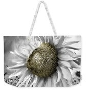 White Sunflower Weekender Tote Bag