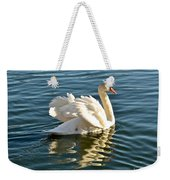 White Swan At Sunset Weekender Tote Bag