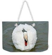 White Swan Swimming Weekender Tote Bag