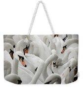 White Swans Weekender Tote Bag