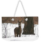 White-tailed Winter Stand  Weekender Tote Bag