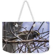White-throated Sparrow With Berry Weekender Tote Bag