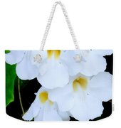 White Thunbergia On The Fence Weekender Tote Bag