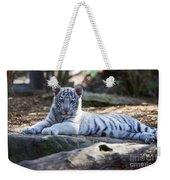 White Tiger Cub Weekender Tote Bag