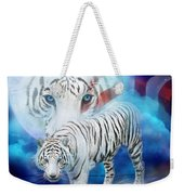 White Tiger Moon - Patriotic Weekender Tote Bag