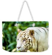 White Tiger Portriat Weekender Tote Bag