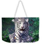 White Tigers Weekender Tote Bag