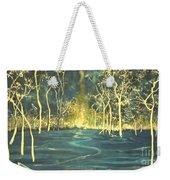 White Trees In The Blue Woods Weekender Tote Bag by Stefan Duncan