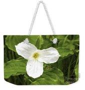 White Trillium Flower Weekender Tote Bag