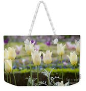White Tulips In Parisian Garden Weekender Tote Bag