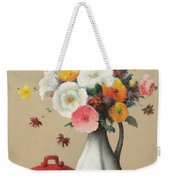 White Vase And Red Box Weekender Tote Bag