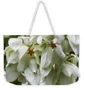 White Veil Of Tropical Flowers Weekender Tote Bag