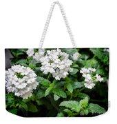 White Verbena Art Weekender Tote Bag