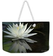 White Water Lily Reflections Weekender Tote Bag