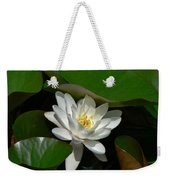 White Waterlily Lotus Weekender Tote Bag