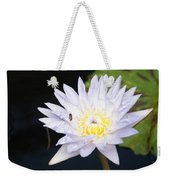 White Waterlily With Fly...   # Weekender Tote Bag