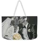 White Wedding Weekender Tote Bag