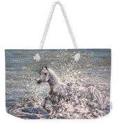 White Wild Horse Weekender Tote Bag