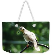 White Winged Dove Weekender Tote Bag