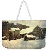 White Winter Barn Weekender Tote Bag