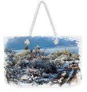 White Winter In The Desert Of Tucson Arizona Weekender Tote Bag
