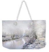 White Winter Weekender Tote Bag