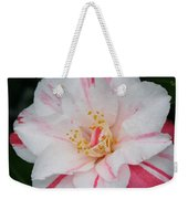 White With Pink Camellia Weekender Tote Bag