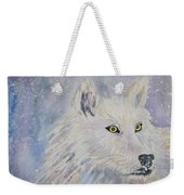 White Wolf Of The North Winds Weekender Tote Bag