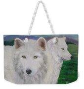 White Wolves Weekender Tote Bag