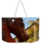 White Wrought Iron Weekender Tote Bag