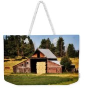 Whitefish Barn Weekender Tote Bag by Marty Koch