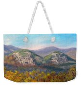 Whitehorse And Cathedral Ledges From The Red Jacket Inn Weekender Tote Bag