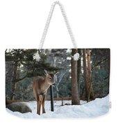 Whitetail In Woods Weekender Tote Bag