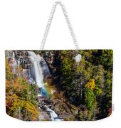 Whitewater Falls With Rainbow Weekender Tote Bag