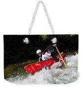 Whitewater Open Canoe Race Weekender Tote Bag